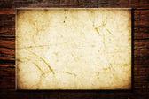 Pusty ogłoszeń wykonane ze starego drewna — Zdjęcie stockowe