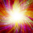 Glowing colorful magic burst — Stock Photo