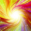 Glowing colorful magic burst - Stock Photo