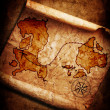 Old treasure map on grunge background - Stock Photo