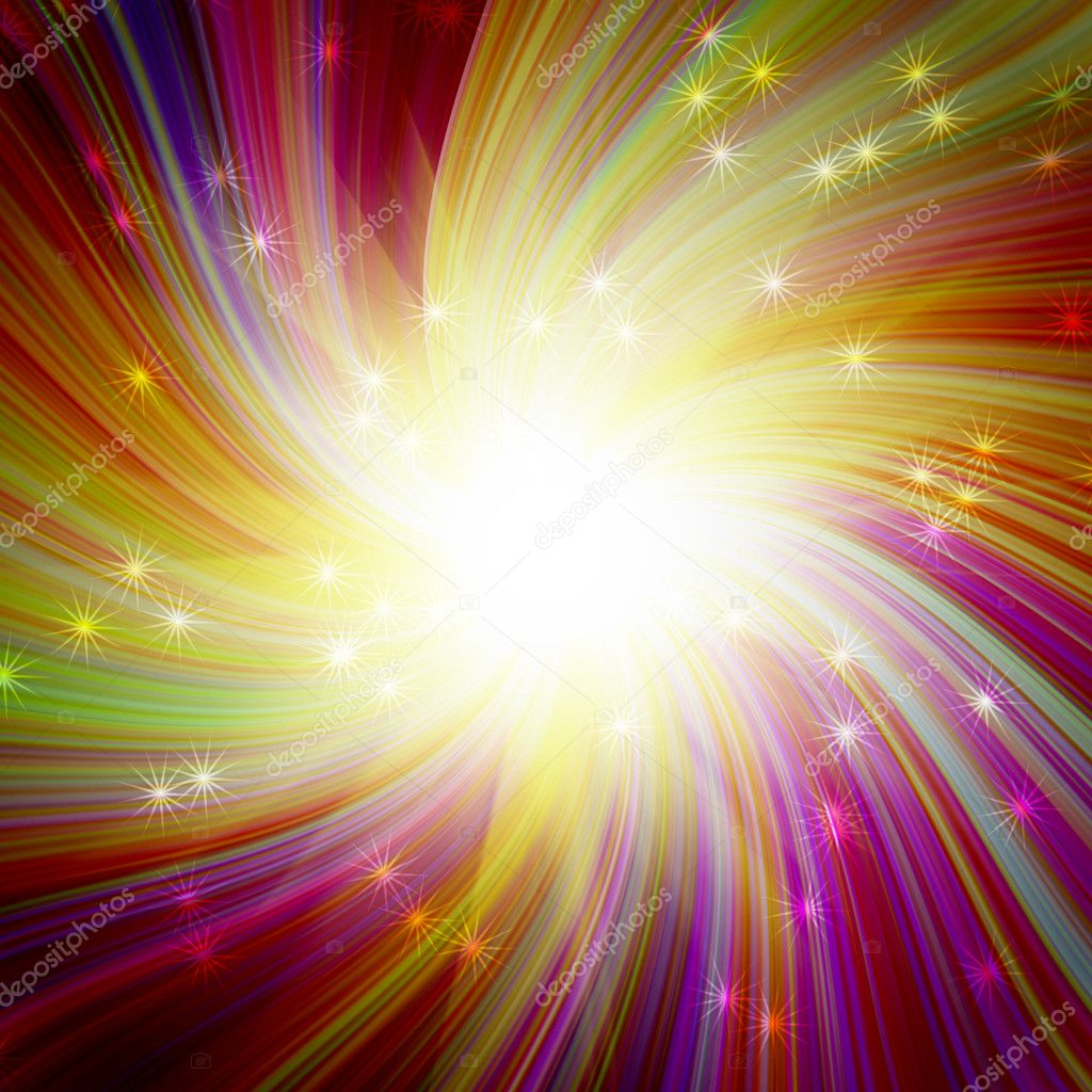 Glowing colorful magic burst — Stock Photo #9826810