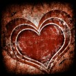 Grunge art background with hearts - Stock Photo