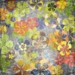 fondo floral vintage de arte grunge — Foto de Stock