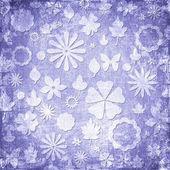 Textura de tecido floral grunge azul — Foto Stock