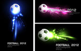 Light football banner, easy editable — Vector de stock