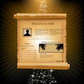 Web site paper design template — Stock Vector