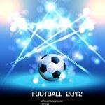 Futbol ışık poster — Stok Vektör