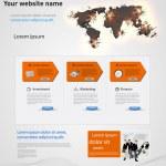Web design vector template, earth explosive elements — Stock Vector