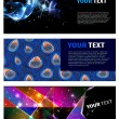 Abstract web banner illustration — Vector de stock #8022868