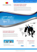 Office website template — Stock Vector