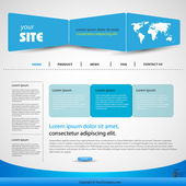 Plantilla web diseño vector azul — Vector de stock