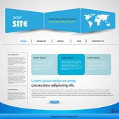 Web šablona návrhu vektorové modré — Stock vektor
