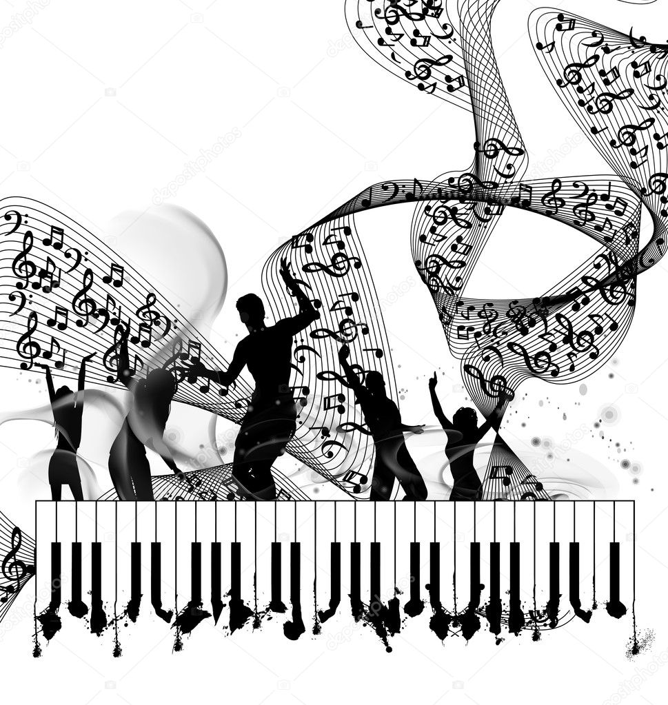 Piano Background Music: Stock Vector © Vectorguru