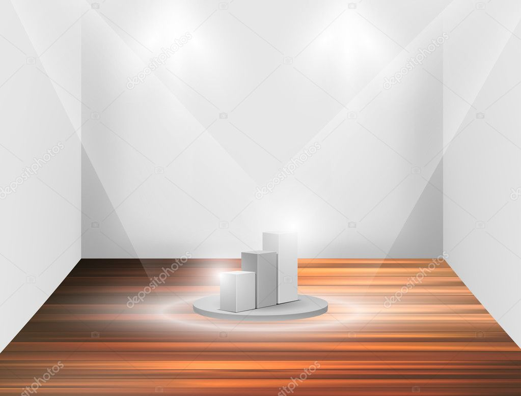 Isolated Empty white podium , vector illustration easily editable — Stock Vector #8022871