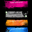 Grunge banners tickets - Stock Vector