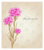 浪漫的花背景横幅 — 图库矢量图片