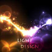 Creative light design idea — Stock Vector
