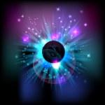 Vector cosmic eclipse — Stock Vector