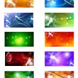 Collection of abstract multicolored background - Stock Vector