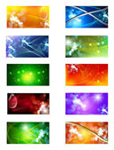 Collection of abstract multicolored background — Stock Vector