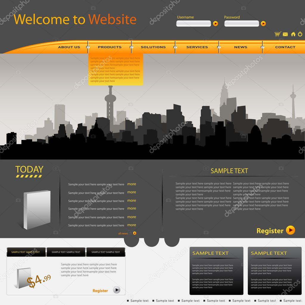 Vector web site design template stock vector for Site web de houseoftheweek