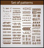 Set of vector patterns for design — Stock Vector