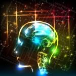návrh pozadí abstraktní lidský mozek — Stock vektor