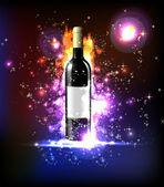 Neon wine — Stock Vector