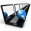 Stock Photo: Internet Concept of global business