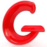 Alphabet on white background — Stock Photo