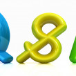 "3d colorful text ""Q&S"" — Stock Photo"