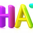 "Colorful 3d text ""chat"" - Stock Photo"