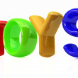 "Stock Photo: ""Toys"" 3d text"