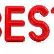 "Stock Photo: 3d red text ""best"""