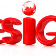 "Stock Photo: 3d red text ""design"""