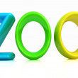 "Colorful 3d text ""Zoo"" — Stock Photo"
