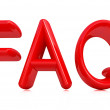 """FAQ"" 3d red text — Stock Photo"