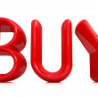 "Stock Photo: 3d red text ""BUY"""