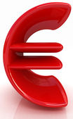 Euro 3d text — Stock Photo