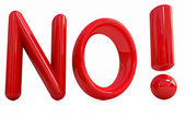 "3d Red text "" No!"" — Stock Photo"