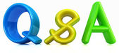 "3d colorful text ""Q&S"" — ストック写真"