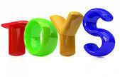 """Toys"" 3d text — Foto Stock"