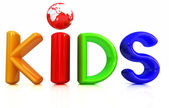 "3d colorful text ""Kids"" — 图库照片"