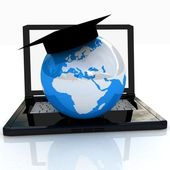 Global On line Education — Stock Photo