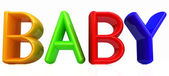"""3d colorful text """"buby"""" — Stock Photo"""