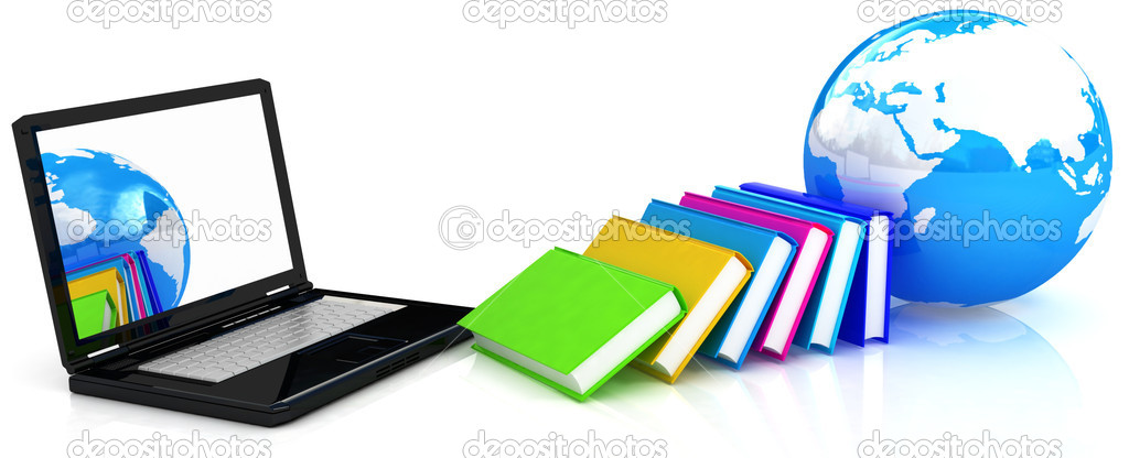 On line Education on white background — Stock Photo #8839731
