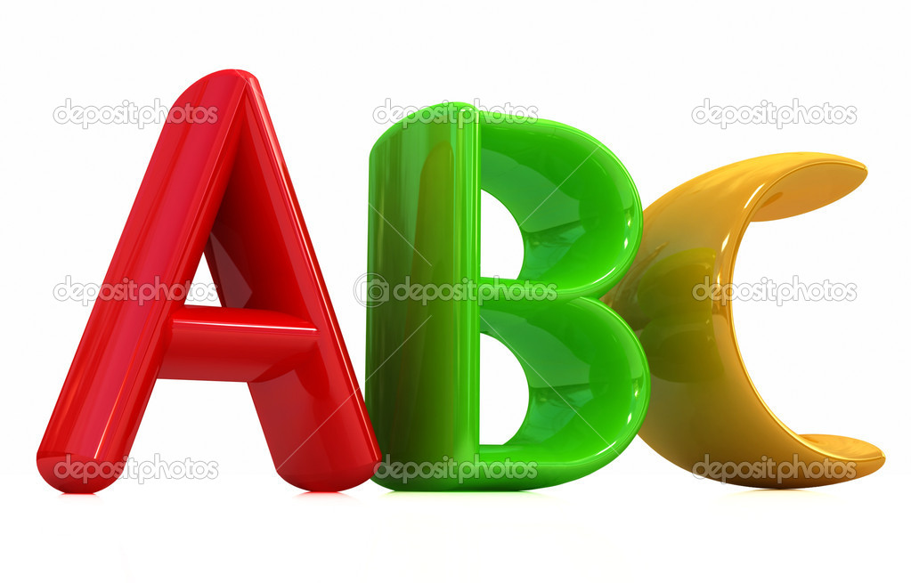 Abc on white background  Stock Photo #8839764