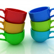 3d cups — Stock Photo