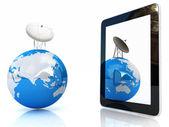 Het concept van mobiel breedbandinternet — Stockfoto