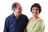 East Indian Elderly Woman with her husband — Stock Photo